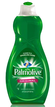 Palmolive Dishwashing Detergent for cleaning PTRs