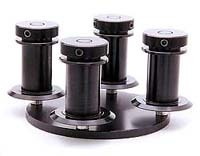 "FXSYS Four-PTR base with precision 1.5"" x 35mm snap-cap hubs."