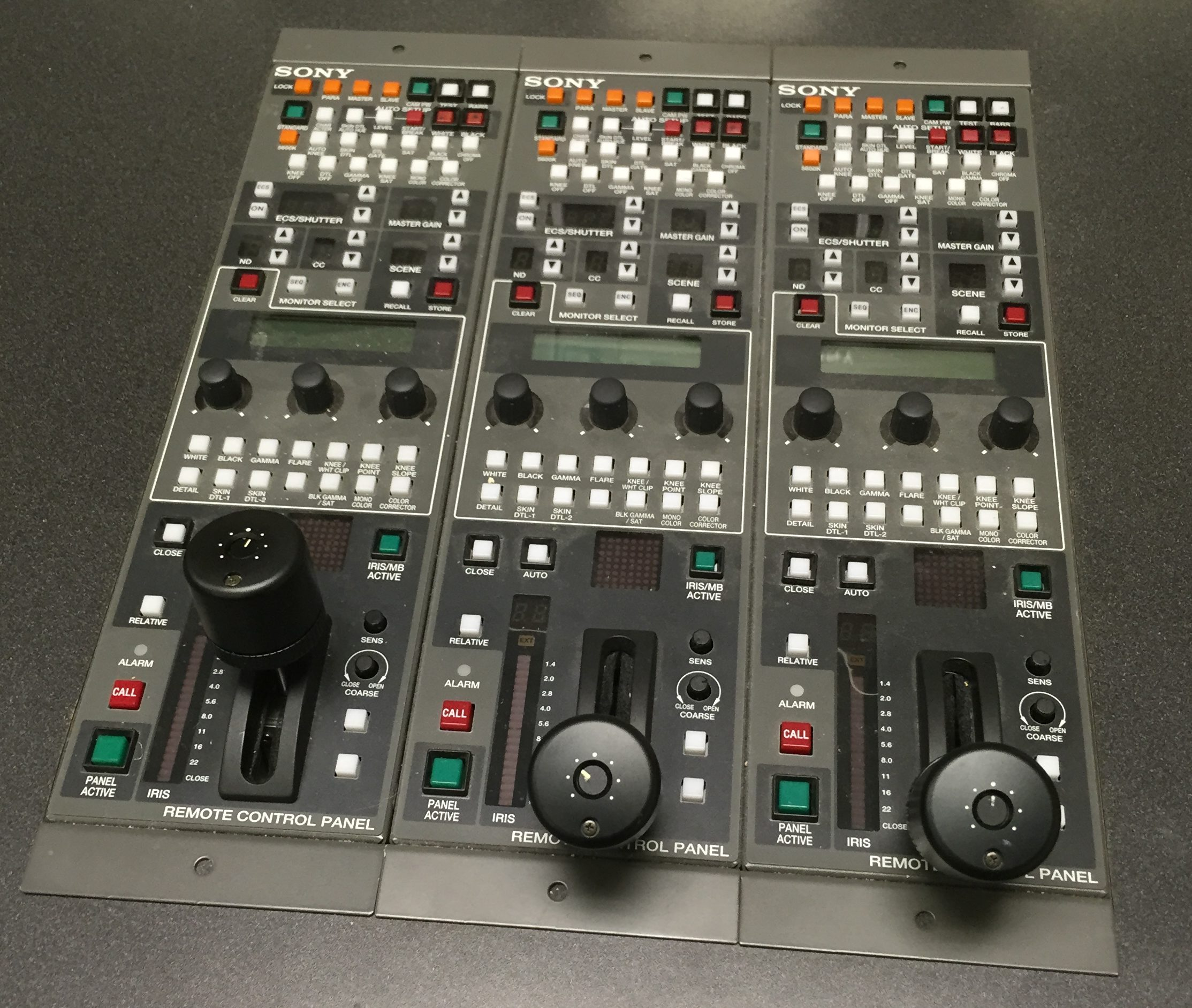 Sony BVP-570 Operations Panels in Shading area
